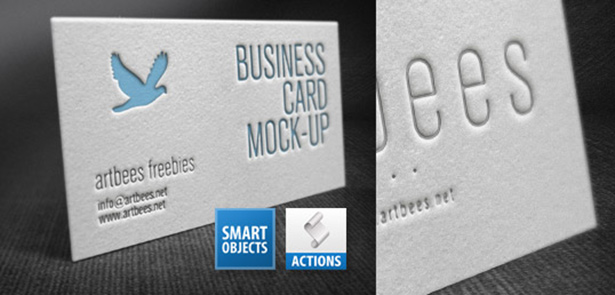 Free letterpress business card mockup action file for photoshop letterpress business card mockup reheart Gallery