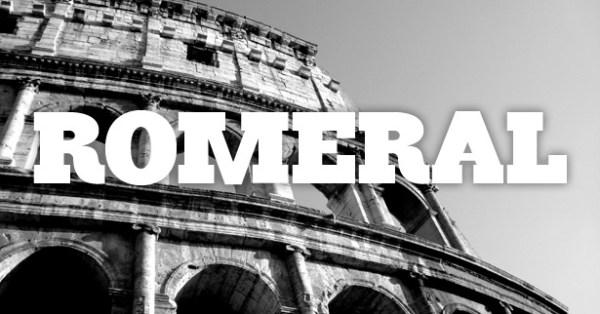 Romeral - free bold font