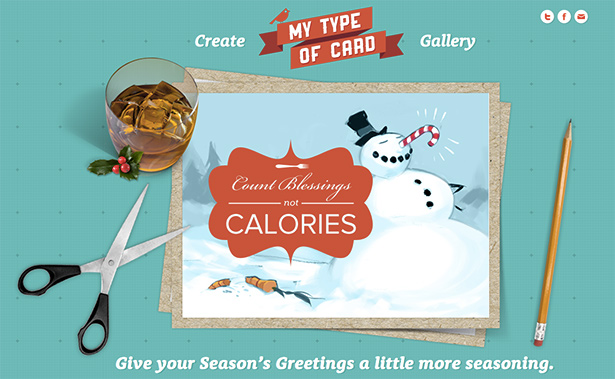 Create your own digital Christmas cards courtesy of Extensis The
