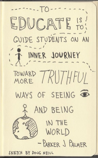The Graphic Recorder - Doug Neill Sketchnotes - The Courage to Teach - Parker J Palmer - Intro (14) Purpose of Education