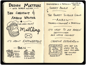 Ben Chestnut and Arron Walter Mailchimp Design Matters Sketchnotes (1)BlackWeb