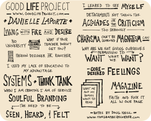 Danielle Laporte Good Life Project Interview Sketchnotes Web