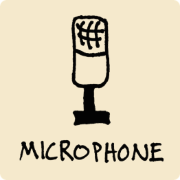 Microphone Visual Vocabulary - sketchnoting visual note taking doodling