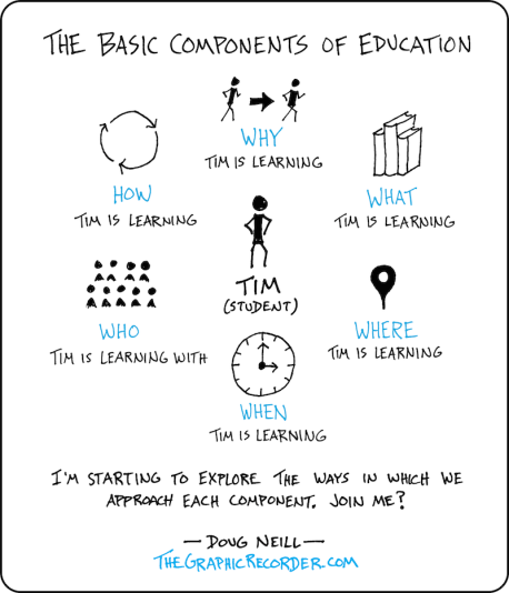 The Basic Components Of Education In Sketched Form