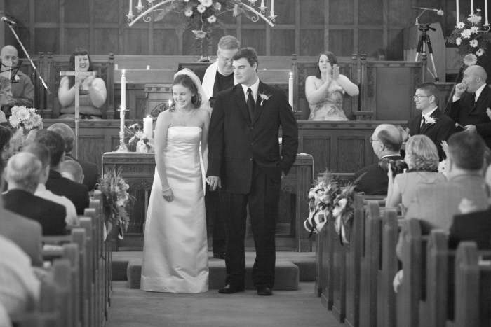 Black & White Wedding Photo