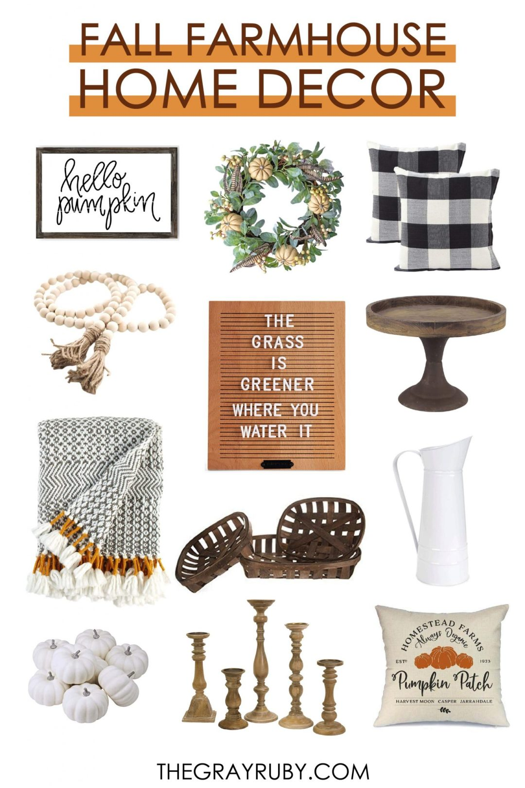 fall farmhouse decor from amazon