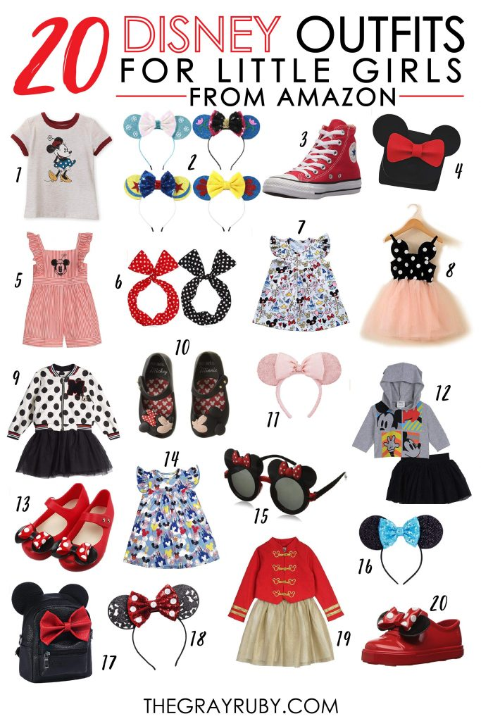 20 of the cutest Disney outfits for girls from Amazon / Disney outfits for girls from Amazon / Disney outfits for toddlers / Disney outfits for kids / Little girls outfits for Disney / Inexpensive Disney clothes