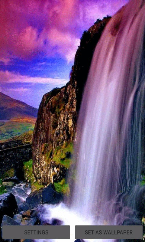 Android Wallpaper Fall Magical Waterfall View Lwp