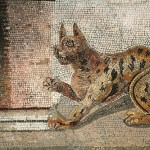 Cat Mosaic House of the Faun Pompeii