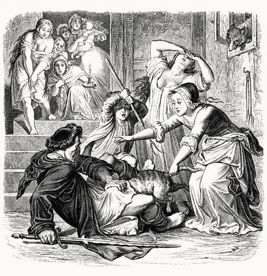 Cat in Medieval Literature Cat castrates Priest Illustration, Reynard the Fox Wilhelm Von Kaulbauch 1846