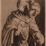 Man with a Cat on His Shoulder Cornelius Danckerts Etching 1630-1640