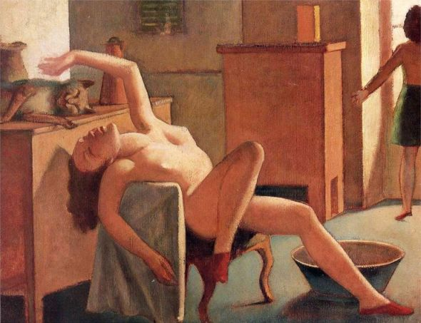 Nude with Cat 1949 National Gallery of Victoria-Melbourne Balthus' Cats