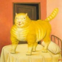 Barcelona Chair Used Toddler Bed Fernando Botero (1932 - Present, Colombian) | The Great Cat