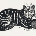 Play with Me, Edward Bawden, cat with string