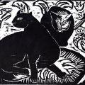 Karl Schmidt-Rottluff, Katzen (Cats) II 1914