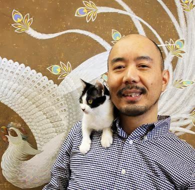 Toshiyuki Enoki with Kitten