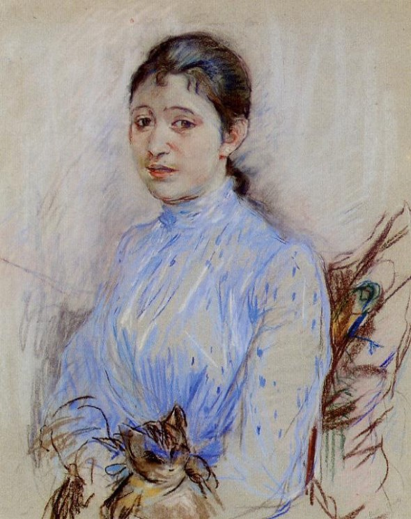 Young Woman in a Blue Blouse, 1889 Berthe Morisot