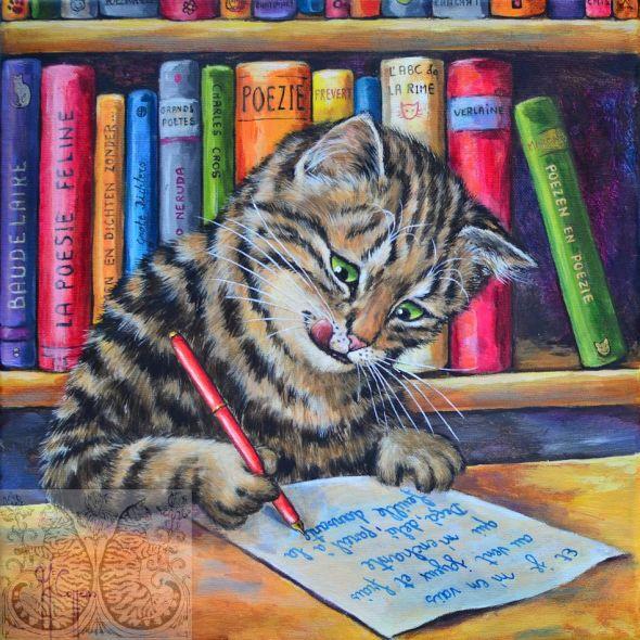 Martine Coppens, cats in art, 11