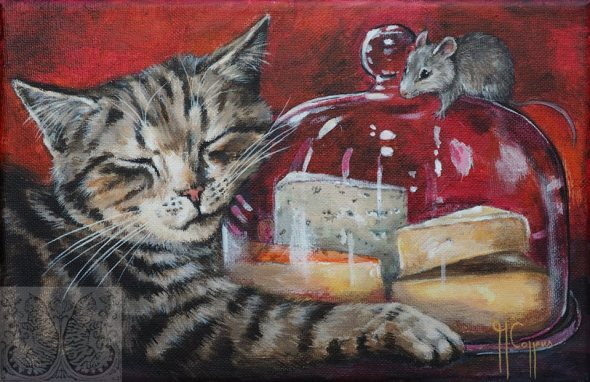 Martine Coppens, cats in art, 15