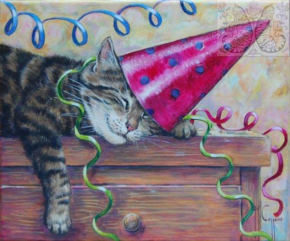 Martine Coppens, cats in art, 19