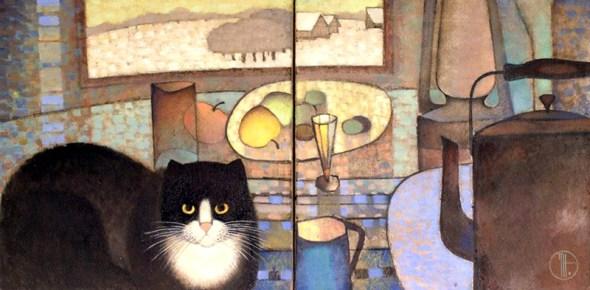 Natalia Trubina, Black and White Cat