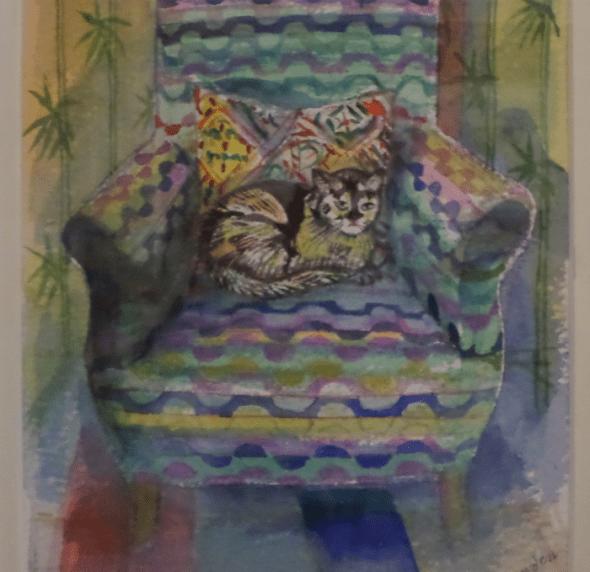 Richard Bawden, Cat in a Chair