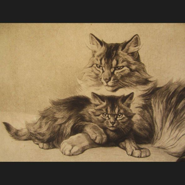 Ferdinand Oger, Mother Cat and Kitten