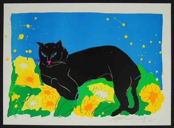 Walasse Ting, Black Cat, 1981