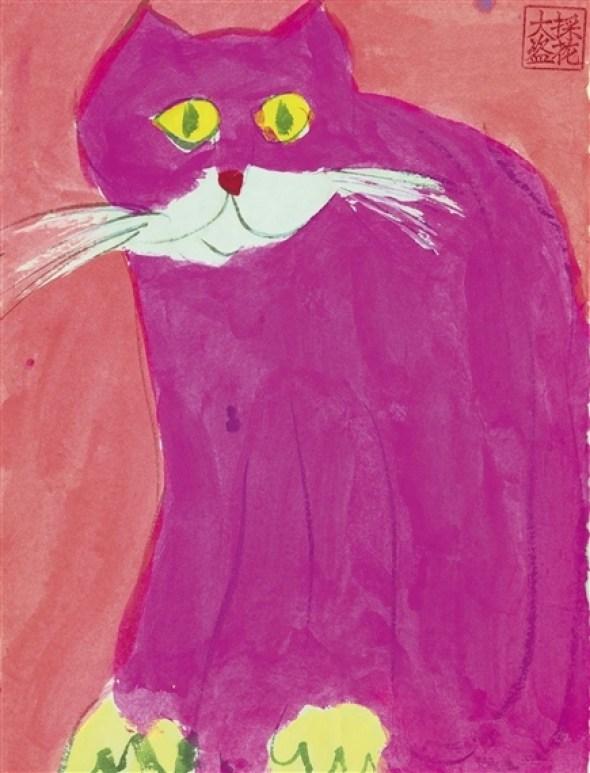 Walasse Ting, Pink Cat