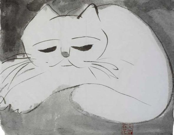 Walasse Ting, White Cat