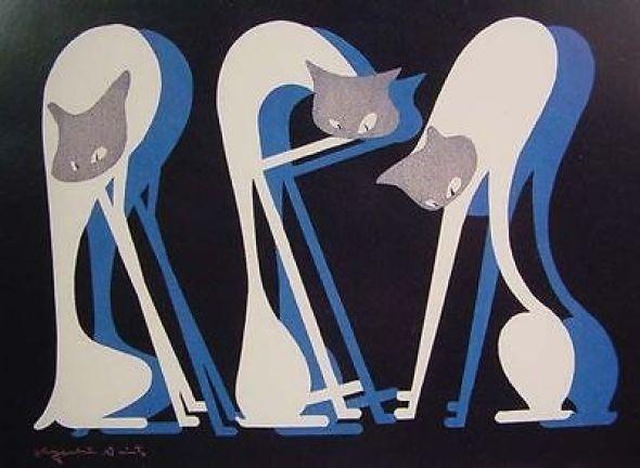 Kiyoshi Saito, Three Cats