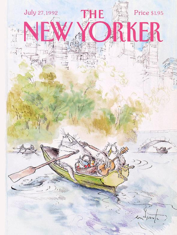 New Yorker Cover July 1992, Ronald Searle