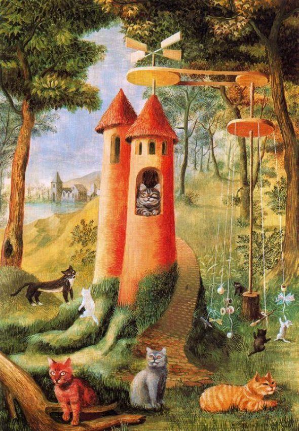 Cats Paradise - Remedios Varo 1955