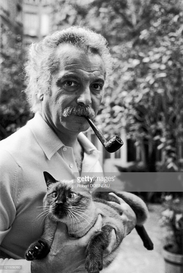 Georges Brassens And His Cat In 1972, Robert Doisneau