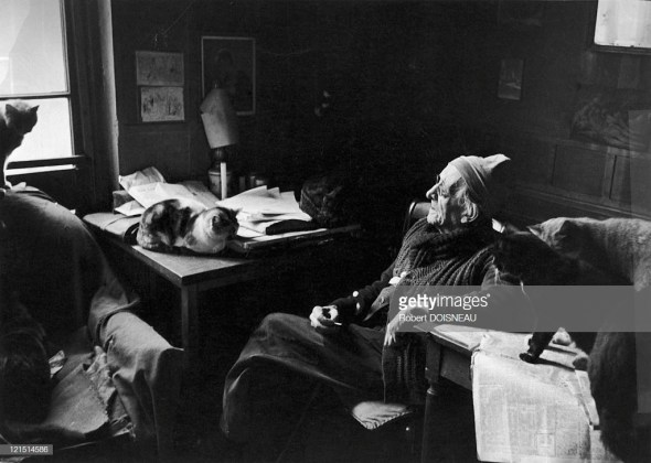 Paul Leautaud And His Cats, Fontenay Aux Roses, 1953 Robert Doisneau