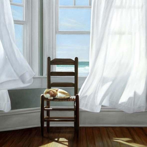 Cat on a Chair, Karen Hollinsworth