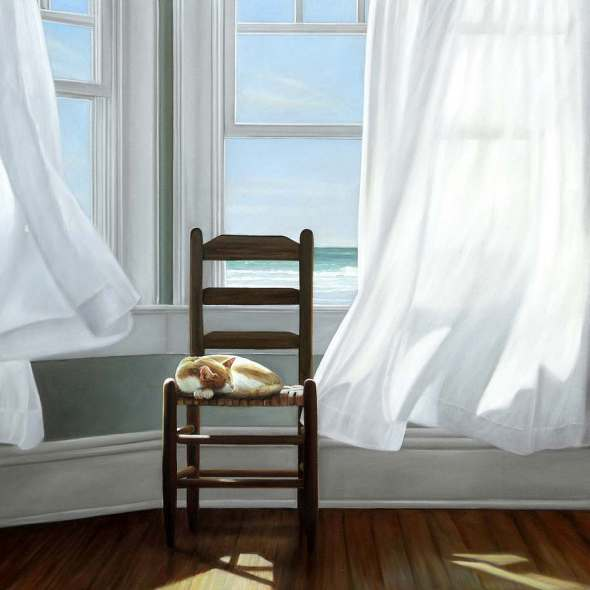 Cat on a Chair, Karen Hollinsworth