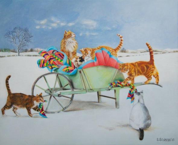 EB Watts, Cats and a Wheelbarrow
