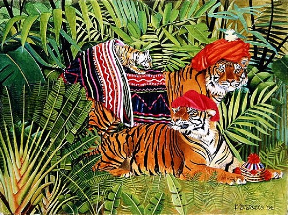 EB Watts, Tiger Family in Thai Clothes