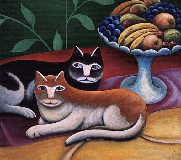 Two Cats and Fruit, Jerzk Marek