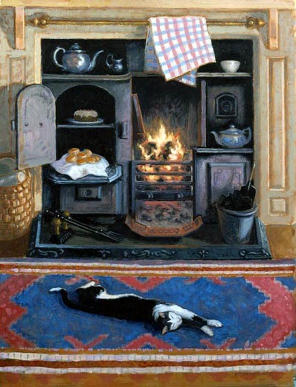 Cat in Front of the Fire, Stephen Darbishire