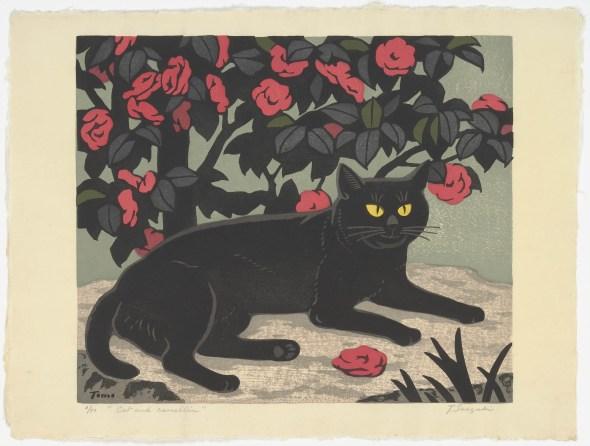 Cat and Camellia, Tomoo Inagaki
