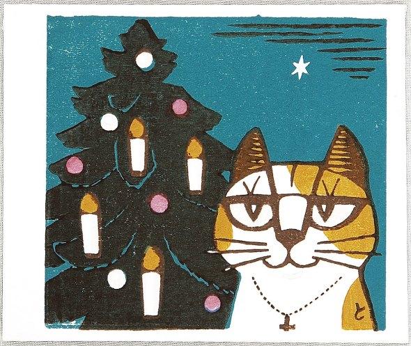 Cat and Christmas Tree, Tomoo