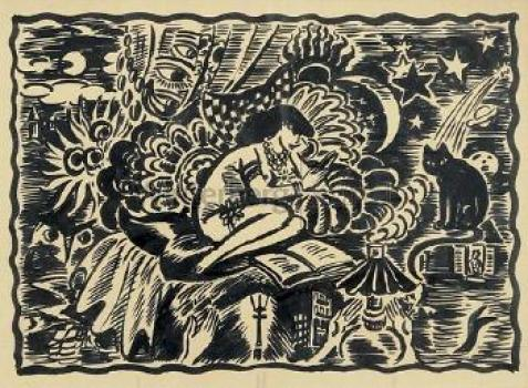 Frans Masereel, Woman and Cat