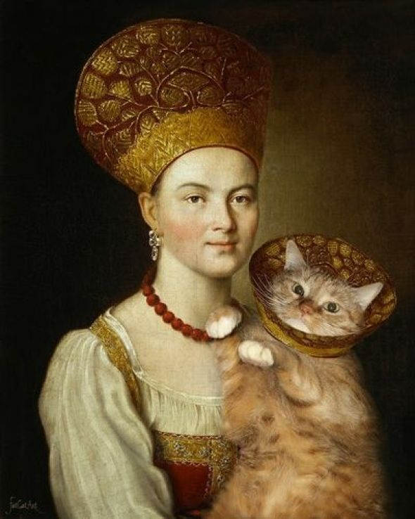 Svetlana Petrova, Fat Cat with Woman