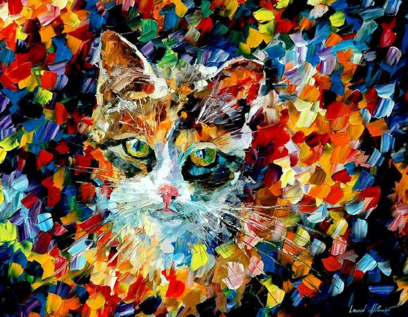 Charming Cat Leonid Afremov