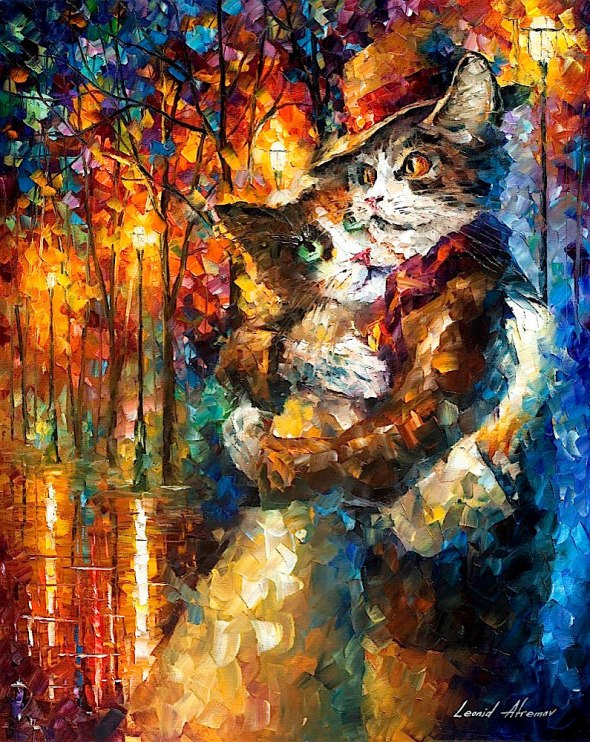 Hugging Cat Couple, Leonid Afremov