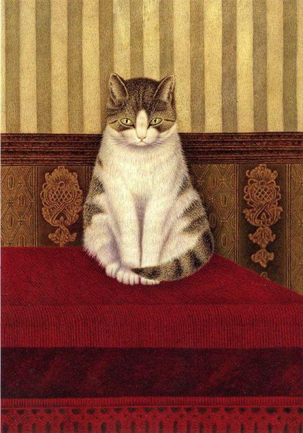 1878-1965 Sal Meijer Cat Sitting on a Bed