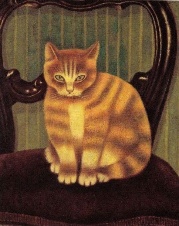 1878-1965 Sal Meijer Cat on a Chair