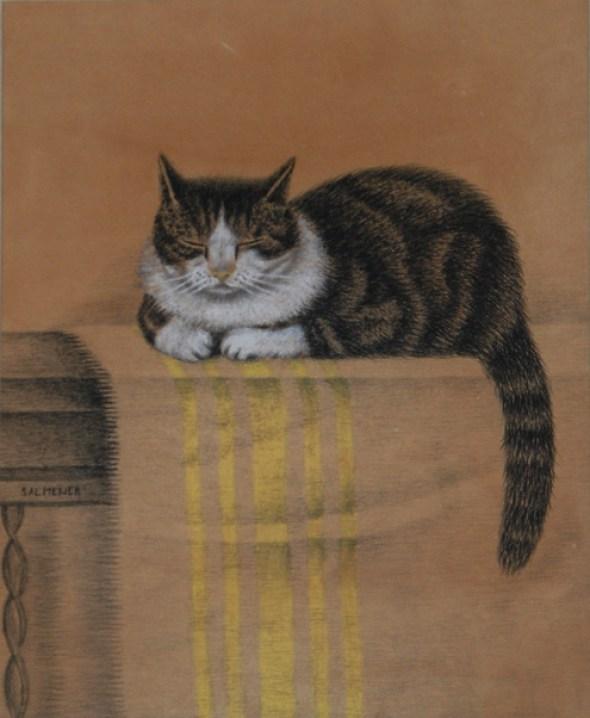 1914c Sal Meijer Cat on a Balcony